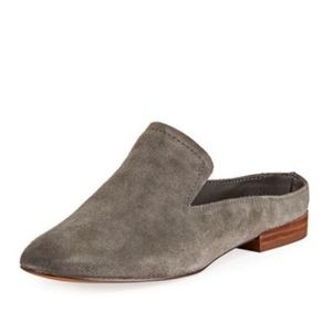 DOLCE VITA Gray Suede Slide On Mules Flat Shoes 8
